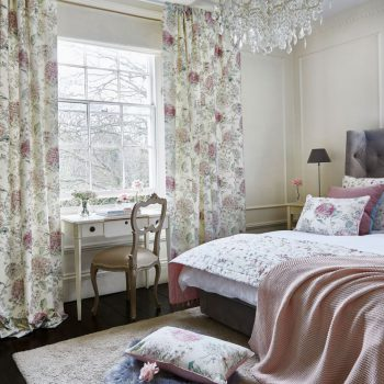 floral print pinch pleat curtains